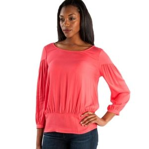 Ella Moss Stella Shirred Top in Hot Pink (NWT!)